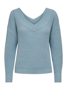 onlmelton life l/s pullover knt noos 15192289 only trui cashmere blue