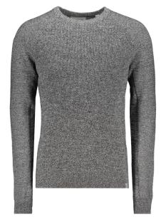 jconeptun knit crew neck 12163787 jack & jones trui black/knit fit