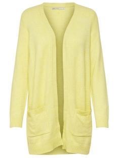 Only Vest ONLLESLY L/S OPEN CARDIGAN KNT NOOS 15174274 Elfin Yellow/W. MELANGE
