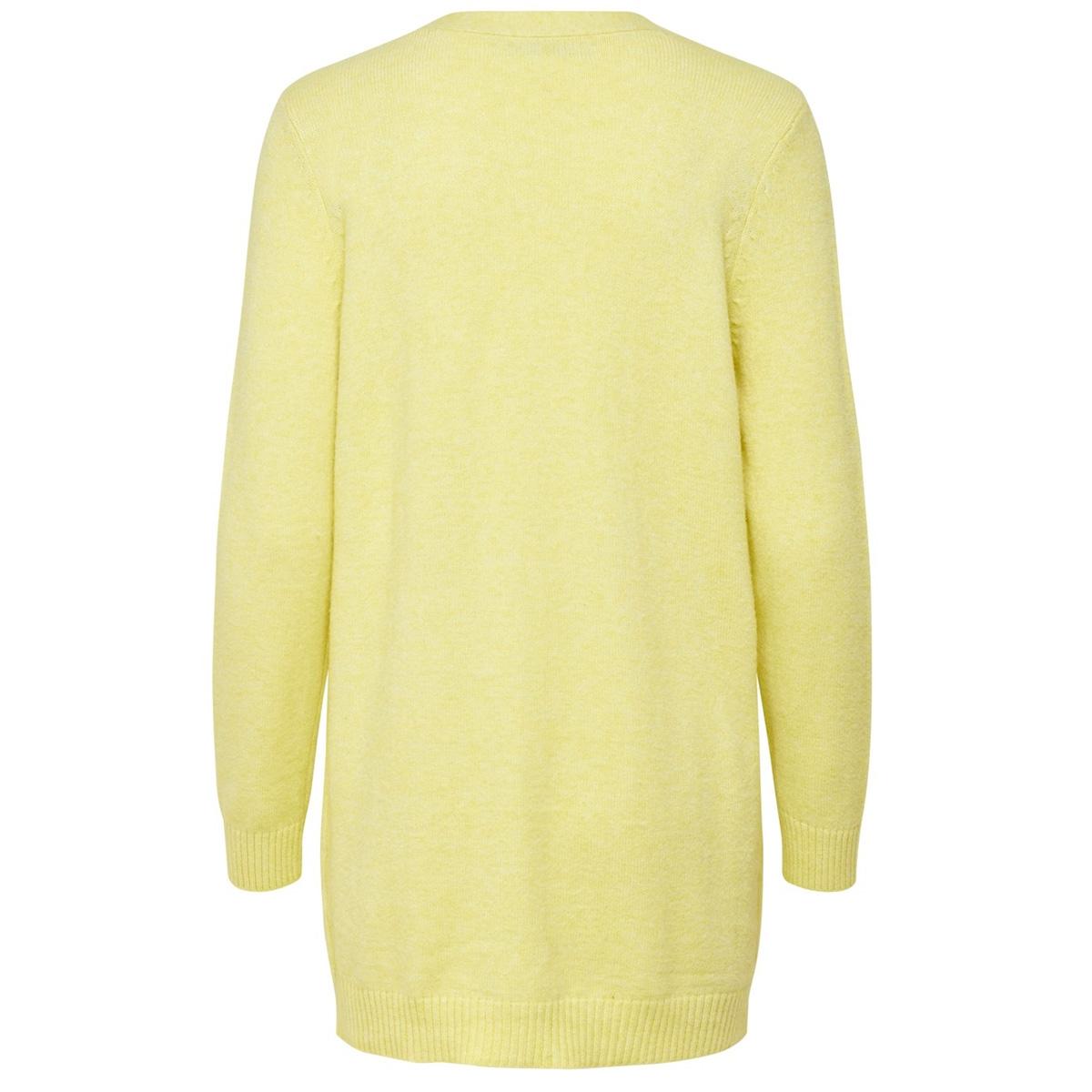 onllesly l/s open cardigan knt noos 15174274 only vest elfin yellow/w. melange