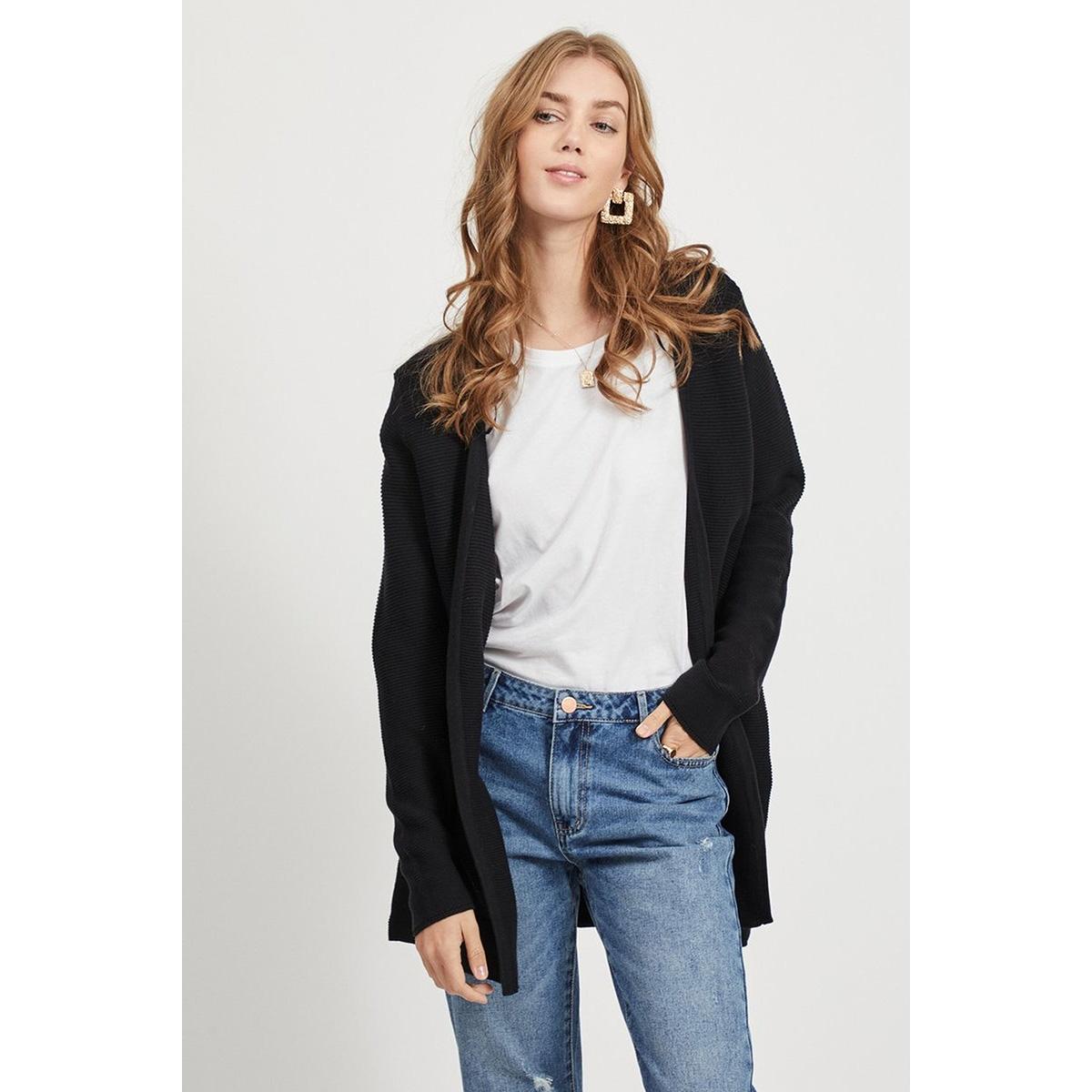 vilalaine knit l/s long cardigan - 14055174 vila vest black