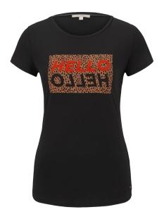 Tom Tailor T-shirt T SHIRT MET LUIPAARD TEKST 1016414XX71 14482