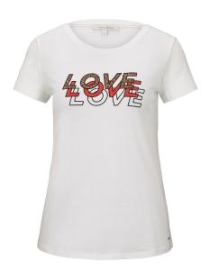 Tom Tailor T-shirt T SHIRT MET LUIPAARD TEKST 1016414XX71 10332