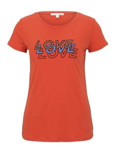 Tom Tailor T-shirt T SHIRT MET LUIPAARD TEKST 1016414XX71 21098
