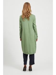 viril l/s long knit cardigan-noos 14042770 vila vest loden frost/melange