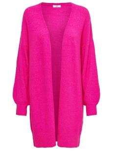 Jacqueline de Yong Vest JDYFAVORITE L/S CARDIGAN DENIM KNT 15196957 Neon Pink