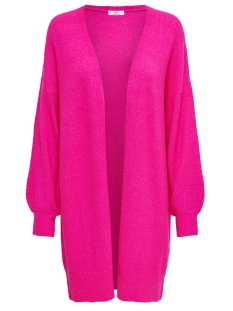 jdyfavorite l/s cardigan denim knt 15196957 jacqueline de yong vest neon pink