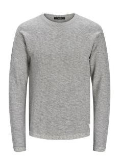 jprblagrey knit crew neck 12168318 jack & jones trui cool grey