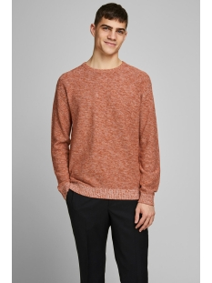 jprblagrey knit crew neck 12168318 jack & jones trui dark salamander