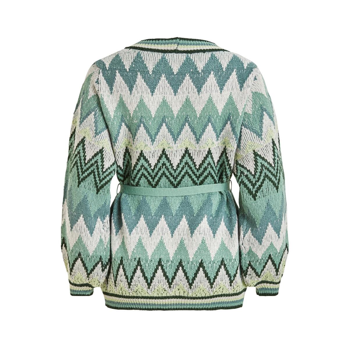 vifrey knit l/s cardigan 14053637 vila vest pine grove/oil blue + s