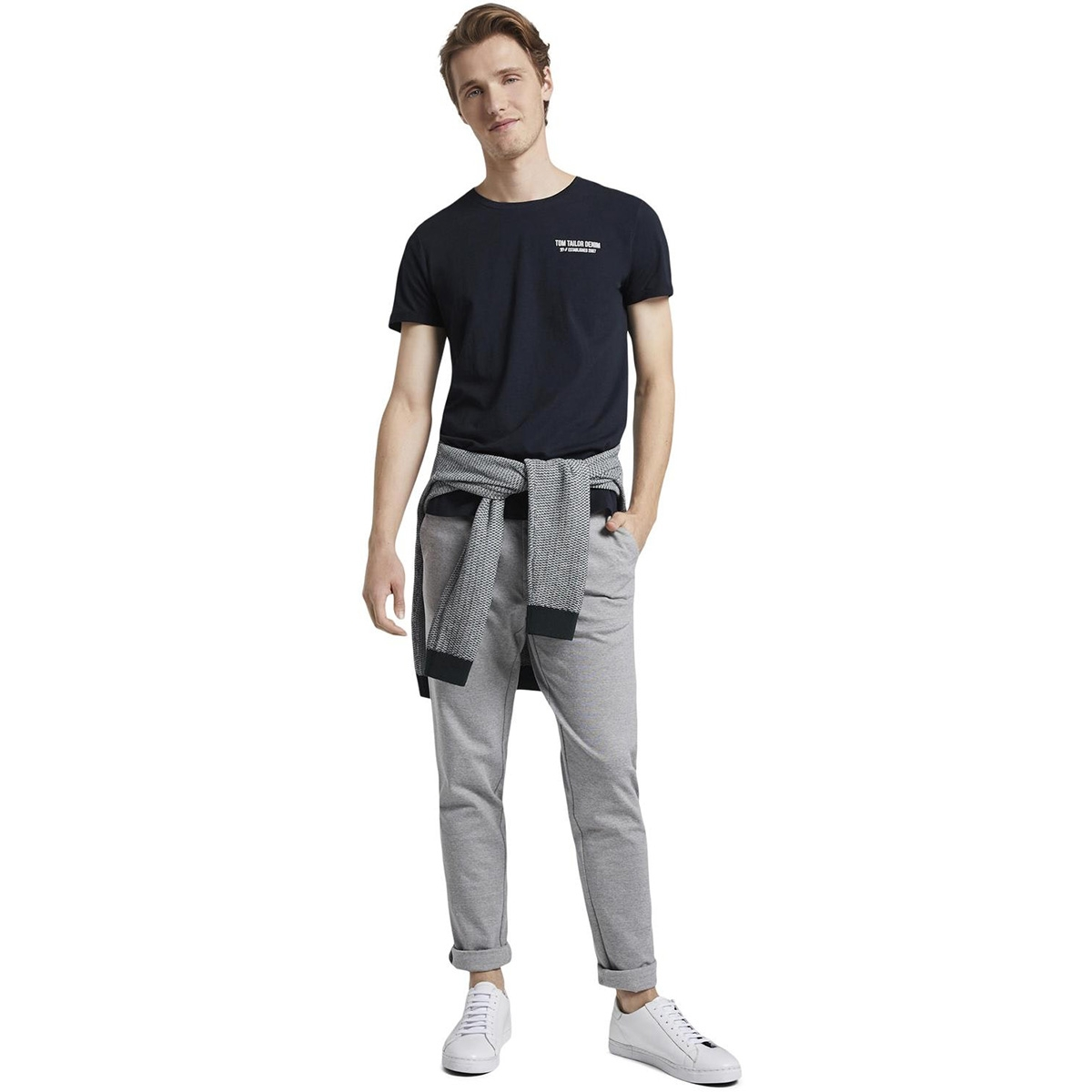 t shirt met een simpele print 1016307xx12 tom tailor t-shirt 13684