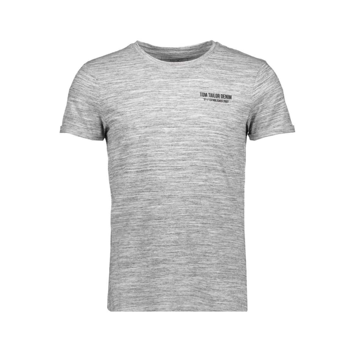 t shirt met een simpele print 1016307xx12 tom tailor t-shirt 20077