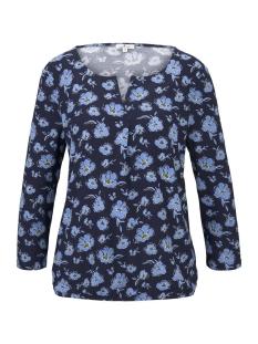Tom Tailor T-shirt T SHIRT MET V HALS 1017749XX70 21839