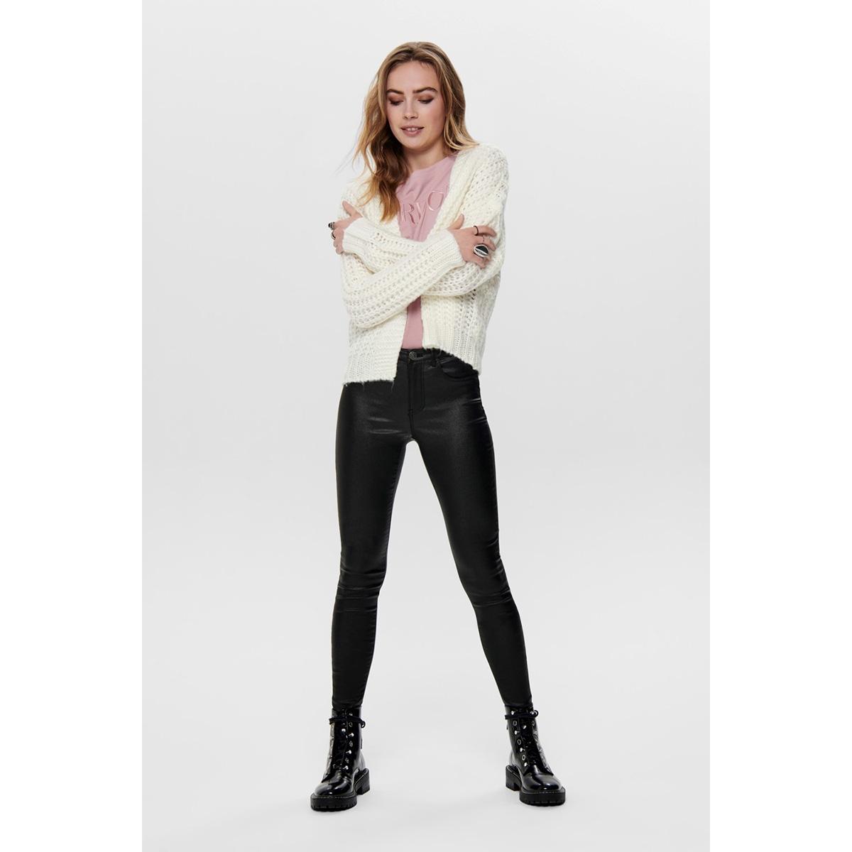 jdycille l/s chunky cardigan knt 15192596 jacqueline de yong vest cloud dancer