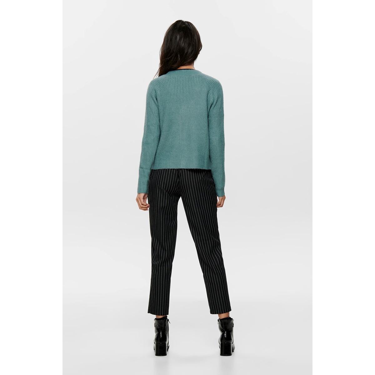 onlcarol l/s cardigan knt 15196734 only vest smoke blue/melange