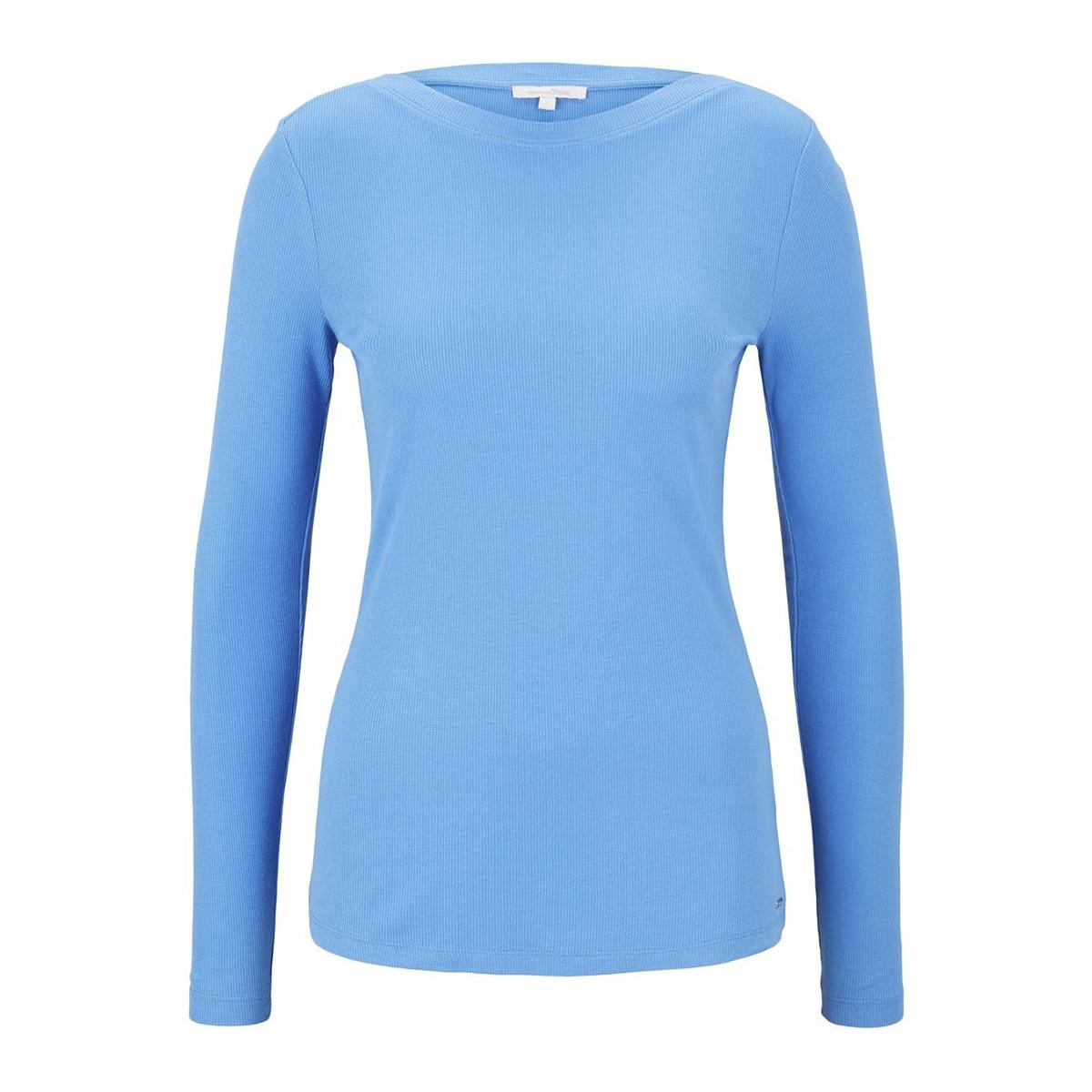 geribde top met boothals 1016857xx71 tom tailor t-shirt 17723