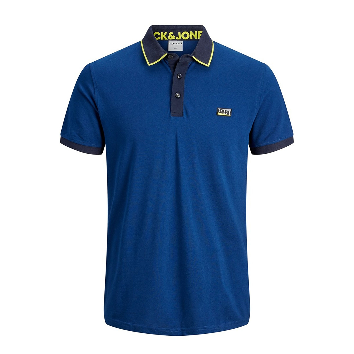 jcocharming polo ss noos 12167174 jack & jones polo navy peony/slim