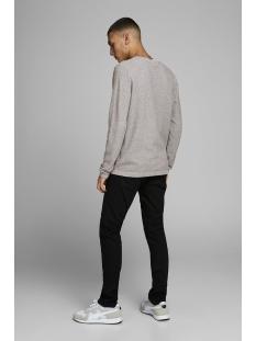 jjerob knit crew neck sts 12168008 jack & jones trui grey melange/twisted