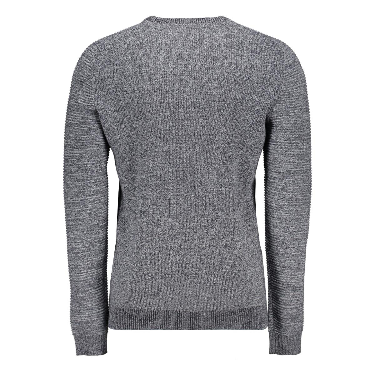 jcoinfinity  knit crew neck 12167761 jack & jones trui white/knit fit
