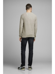 jjerob knit crew neck sts 12168008 jack & jones trui dusky green/twisted