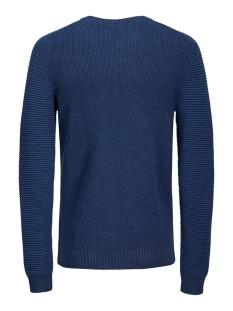 jcoinfinity  knit crew neck 12167761 jack & jones trui sky captain/knit fit