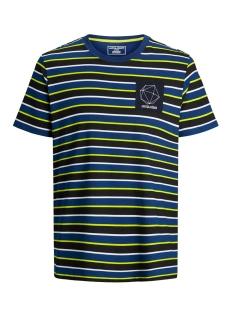 Jack & Jones T-shirt JCORELIEF TEE SS CREW NECK 12167332 Navy Peony/SLIM