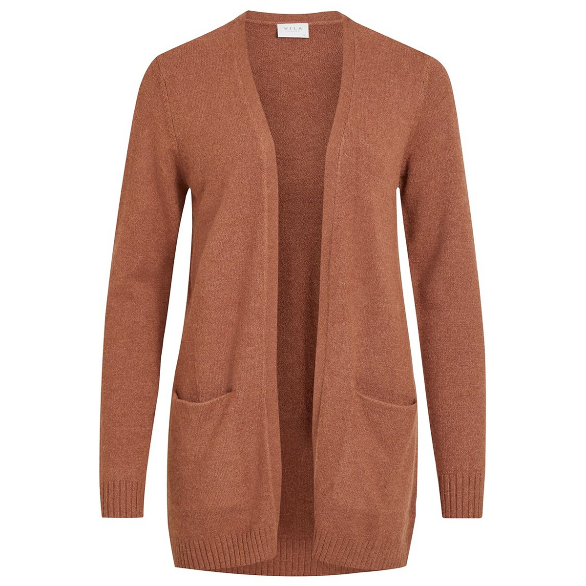 viril l/s open knit cardigan-noos 14044041 vila vest rawhide