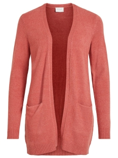 viril l/s open knit cardigan-noos 14044041 vila vest dusty cedar