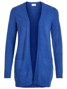 viril l/s open knit cardigan-noos 14044041 vila vest mazarine blue