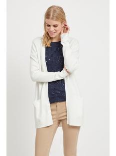 viril l/s open knit cardigan-noos 14044041 vila vest white alyssum