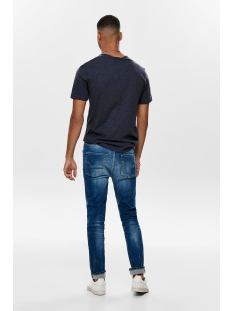 onsalbert life new ss tee noos 22005108 only & sons t-shirt dark navy