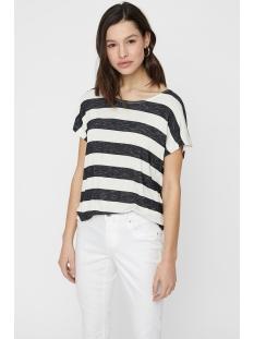 Vero Moda T-shirt VMWIDE STRIPE S/L TOP NOOS 10190017 Snow White/BLACK