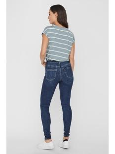 vmava plain ss top nemo stripe ga n 10220773 vero moda t-shirt slate/snow white