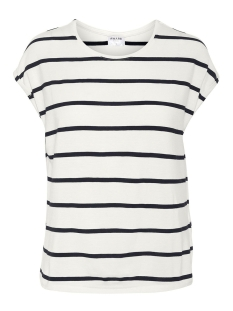 Vero Moda T-shirt VMAVA PLAIN SS TOP NEMO STRIPE GA N 10220773 Snow White/NIGHT SKY