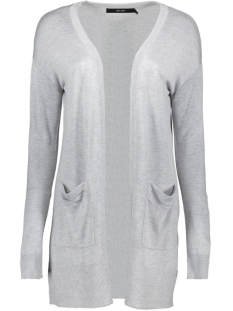 Vero Moda Vest VMVICA LS OPEN CARDIGAN COLOR GA 10226891 Light Grey Melange
