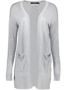 vmvica ls open cardigan color ga 10226891 vero moda vest light grey melange