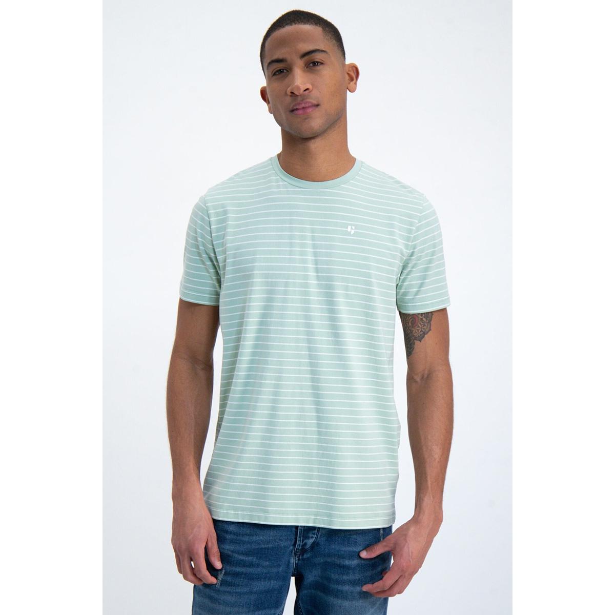 t shirt met streep gs010102 garcia t-shirt 3020 hill green