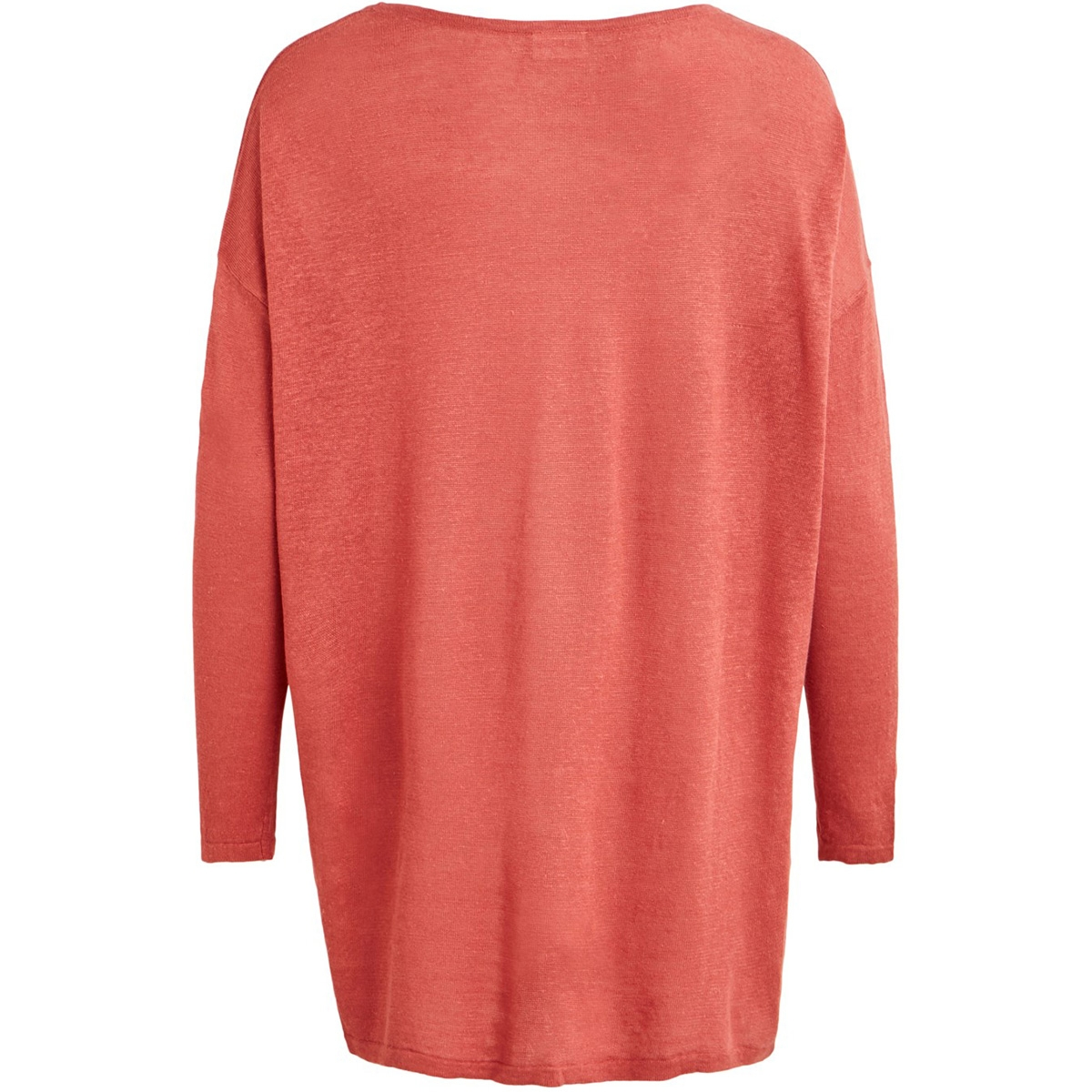 vifilak knit l/s oversize tunic - f 14055935 vila tuniek dusty cedar/melange