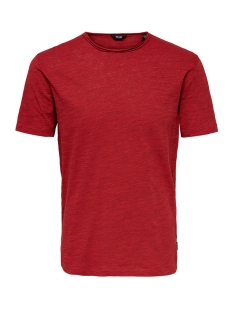 onsalbert life new ss tee noos 22005108 only & sons t-shirt pompeian red