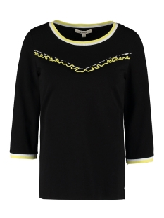 t shirt met ruffle detail m00006 garcia t-shirt 60 black