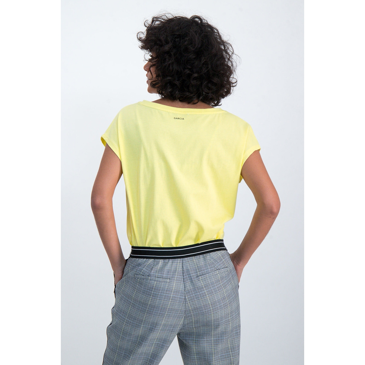 t shirt met tekst print m00001 garcia t-shirt 145 limelight