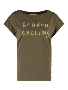 Garcia T-shirt T SHIRT MET TEKST PRINT M00001 3297 OLIVE GREEN