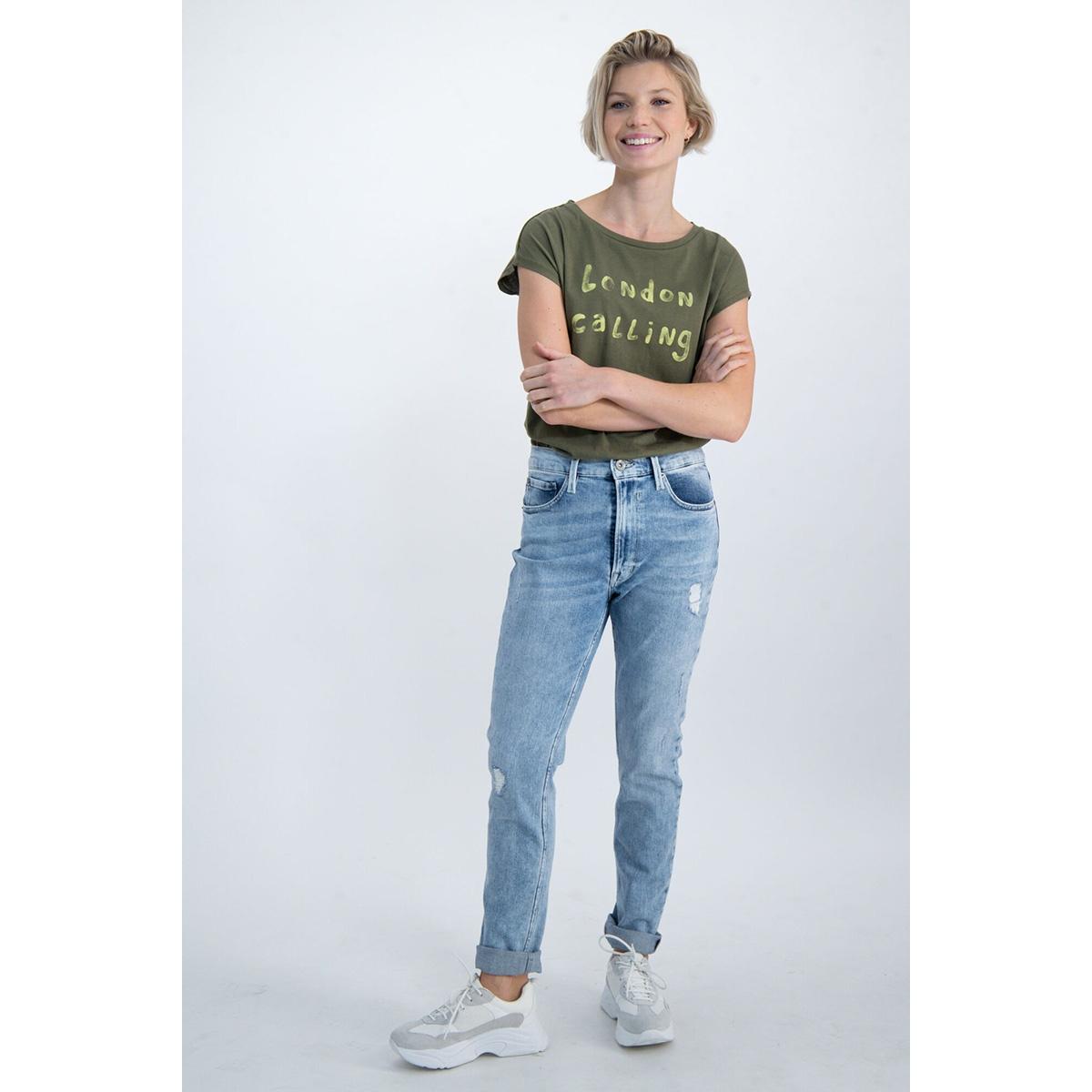 t shirt met tekst print m00001 garcia t-shirt 3297 olive green