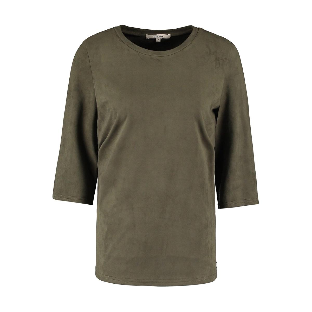 suedine t shirt m00003 garcia t-shirt 3297 olive green