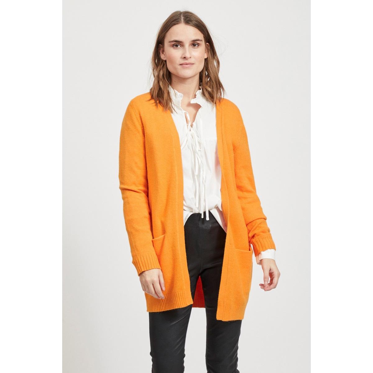 viril l/s open knit cardigan-fav 14044095 vila vest apricot/melange