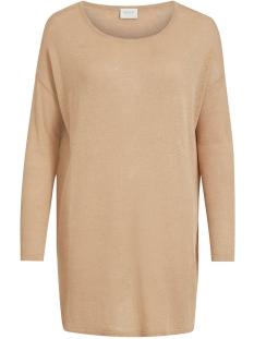 vifilak knit l/s oversize tunic - n 14054642 vila tuniek nomad/melange