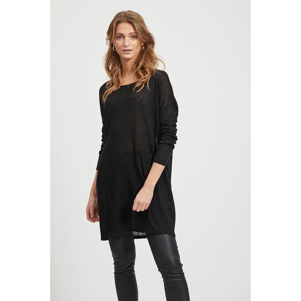 vifilak knit l/s oversize tunic - n 14054642 vila tuniek black