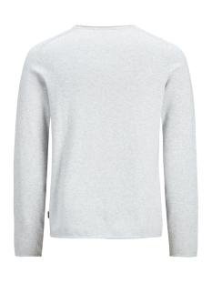 jprblamaximus knit crew organic 12168253 jack & jones trui cool grey/melange