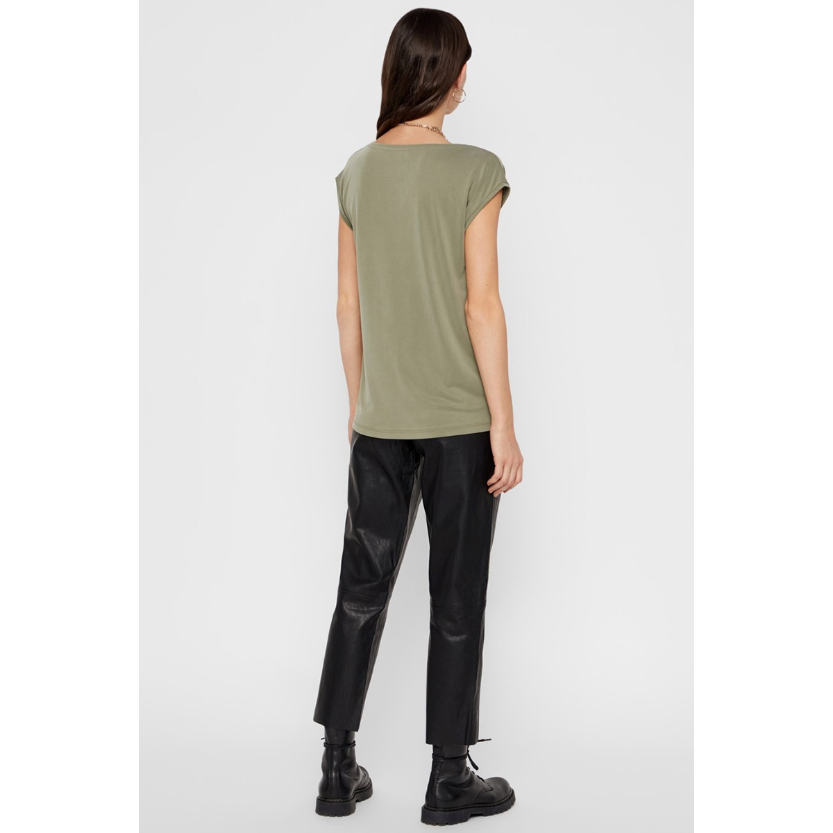 pckamala tee noos 17095260 pieces t-shirt deep lichen green