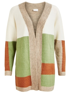 viblock knit l/s sleeve cardigan 14055534 vila vest loden frost/w. natural